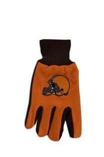 NFL Cleveland Browns Two-Tone Gloves, Orange/Brown