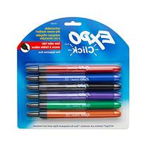 EXPO Click Low-Odor Dry Erase Retractable Markers, Fine