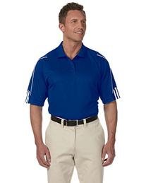 Adidas Men's ClimaLite 3-Stripes Cuff Piqu Polo - Collegiate