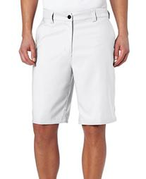 adidas Climalite Flat-Front Short, 40-Inch, White