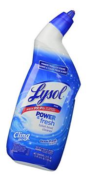 Lysol Clean & Fresh Toilet Bowl Cleaner, Cling Gel, Ocean