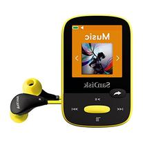 SanDisk Clip Sport 4GB MP3 Player, Yellow With LCD Screen
