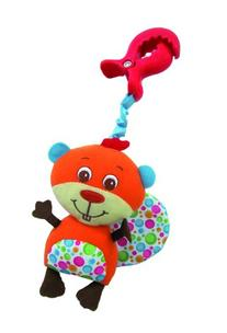 Tiny Love Clip-On Stroller Toy, Billy Beaver