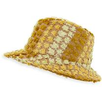 Federica Moretti Clo Frayed Canvas Fedora Hat