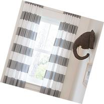 Carousel Designs Cloud Gray Horizontal Stripe Drape Panel 84