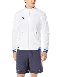 ASICS Men's Club Woven Jacket, Real White, XX-Large
