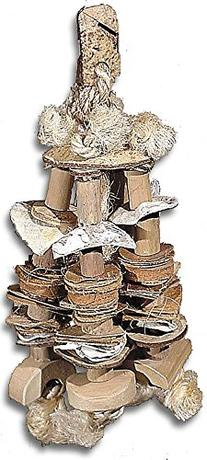 Planet Pleasures Nature Cluster Natural Bird Toy, Medium/12