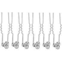 John Lewis Cluster Cubic Zirconia Hair Pins, Pack of 6,