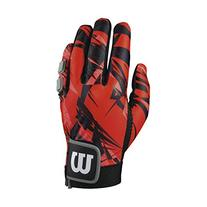 Wilson Clutch Racquetball Glove, Red/Black, X-Large