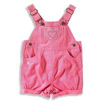 Carhartt Kid's CM9623 Twill Shortall- Girls - 2 Toddler -