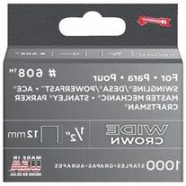 Arrow Fastener Co 1/2IN Wide HD Staples 1000/Box - 60830