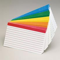 Esselte Corporation Oxford Color Coded Index Cards, 4x6