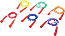 Sportime Jump Ropes, 7 Feet, Assorted Colors, Set of 6