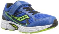 Saucony Boys Cohesion 7 A/C Running Shoe ,Blue/Black/Green,1