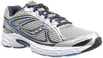 Saucony Men's Cohesion 7 Running Shoe,Silver/Grey/Slime,8 M