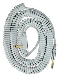VOX VCC090WH Coiled Cable 29.5' with Mesh bag, White