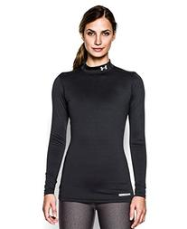 Under Armour Women's ColdGear Authentic Crew, Black/Silver,