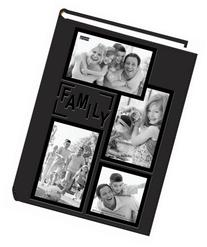 "Pioneer Collage Frame Embossed ""Family"" Sewn Leatherette"