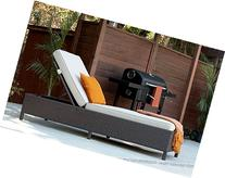Serta Outdoor Collection Chaise Lounge with Plush Cushions,