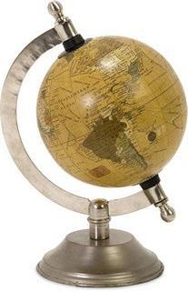 IMAX 73025 Colony Globe With Nickel Finish Base