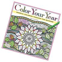 Color Your Year Wall Calendar 2016: Mindful Coloring Through