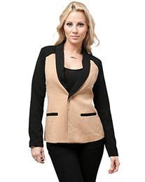 Stanzino Women's Colorblock Single Button Long Sleeve Blazer