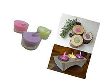 Colorflame By Decor Hut, Set of 3 Candles in Glass Holder,