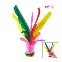 TOOGOO Colorful Feather Kick Shuttlecock Chinese Jianzi 2