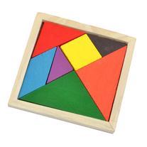 Como Children Colorful Wooden Puzzle Brain Training 7 Parts