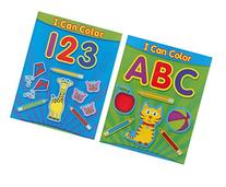 Coloring Books for Kids: ABC & 123 I CAN COLOR Coloring &