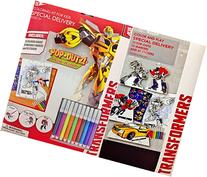 Transformers Coloring Kit for Kids Featuring Pop-Outs for
