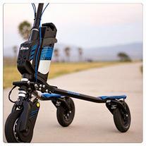 Trikke Colt Air Scooter, Black/Blue