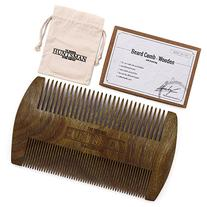Dual Action Beard Comb & Protective Sleeve - Perfect for