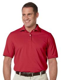 Ashworth Mens Combed Cotton Pique Polo - CARMINE RED - L