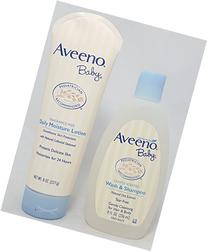 Aveeno Baby Combo Pack: 8 oz Daily Moisture Lotion & 8 fl oz