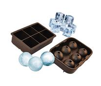 UnicGlam Large Ice Cube Trays  Combo Silicone Square Mold