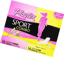Playtex Sport Combo Pack with Regular and Super  Tampons and