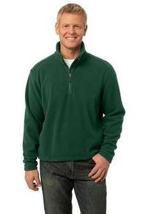 Port Authority Mens Comfort 1/4-Zip Fleece Pullover, Forest