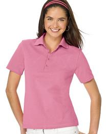 Hanes Women`s ComfortSoft® Cotton Pique Polo Shirt, L-