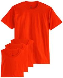 Hanes Men's ComfortSoft T-Shirt , Orange, Large