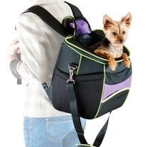 K&H Manufacturing Comfy Go Backpack Carrier Purple/Black/