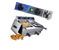 20L Commercial Deep Fryer w/ Timer and Drain Fast Food