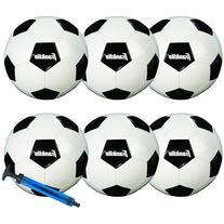 Franklin Sports Comp 100 6-Pack of Soccerballs and Pump