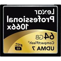 Lexar Professional 1066x 64GB VPG-65 CompactFlash card  w/
