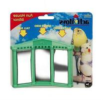 JW Pet Company Activitoys Fun House Mirror Bird Toy, Colors