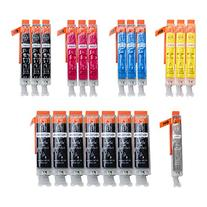 LINKYO Replacement 20-Color Ink Set for Canon PGI 250XL CLI