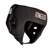 Ringside Competition Boxing Headgear without Cheeks, Black,
