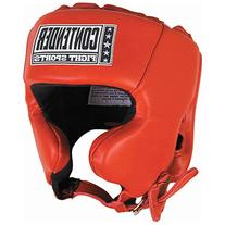 Contender Fight Sports Competition Headgear, Red, Small
