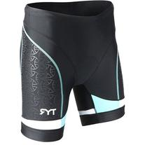 TYR Competitor 6in Tri Shorts - Women's Black/Coral/Blue, S