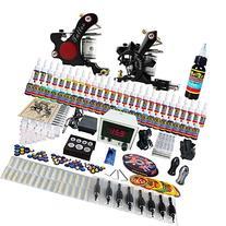 Solong Tattoo® Complete Tattoo Kit 2 Pro Machine Guns 54